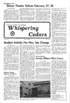 Whispering Cedars, February 18, 1976 by Cedarville College