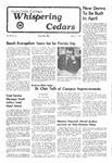 Whispering Cedars, March 11, 1977 by Cedarville College