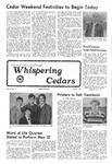 Whispering Cedars, May 6, 1977 by Cedarville College