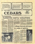 Cedars, May 7, 1987 by Cedarville College