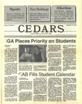 Cedars, September 24, 1987 by Cedarville College