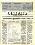 Cedars, October 8, 1987 by Cedarville College