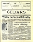 Cedars, November 5, 1987 by Cedarville College