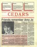 Cedars, December 3, 1987
