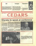 Cedars, March 3, 1988 by Cedarville College