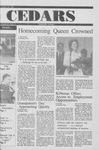 Cedars, October 25, 1990 by Cedarville College