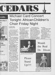 Cedars, October 31, 1991