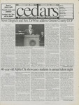 Cedars, February 20, 1998 by Cedarville College