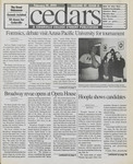 Cedars, February 19, 1999 by Cedarville College
