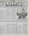 Cedars, April 9, 1999 by Cedarville College