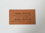 Adam and Eva Ticket by Cedarville College