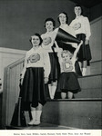 1957-1958 Cheerleaders by Cedarville College