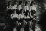 1984-1985 Cheerleaders by Cedarville College