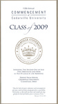 2009 Commencement Program