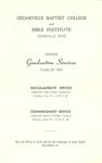 1954 Commencement Program