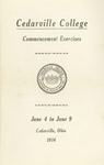 1916 Commencement Exercises