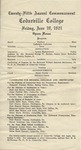 1921 Commencement Program
