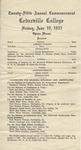 1921 Commencement Program