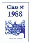 1988 Commencement Program by Cedarville College