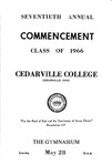 1966 Commencement Program