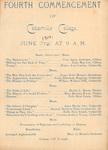 1900 Commencement Program