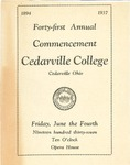1937 Commencement Program