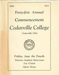 1937 Commencement Program