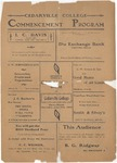 1903 Commencement Program