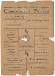 1903 Commencement Program