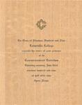1909 Commencement Invitation