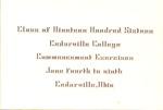 1916 Commencement Announcement
