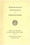 1953 Baccalaureate Program