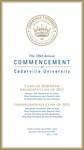 2021 Commencement Program by Cedarville University