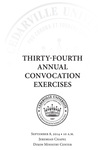 Thirty-fourth Annual Convocation Exercises