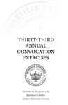 Thirty-third Annual Convocation Exercises