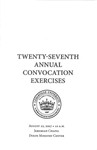 Twenty-seventh Annual Convocation Exercises