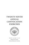 Twenty-ninth Annual Convocation Exercises