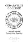 Seventh Annual Convocation Exercises by Cedarville College