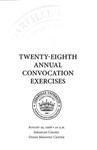 Twenty-eighth Annual Convocation Exercises