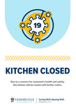 Kitchen Closed by Cedarville University