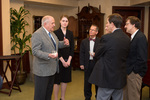 Charles Murray with Students and faculty