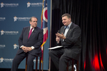 Mike Huckabee and Dr. Mark Caleb Smith by Cedarville University