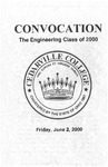 The Department of Engineering Class of 2000 Convocation by Cedarville University