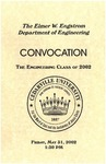 The Department of Engineering Class of 2002 Convocation