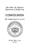 The Department of Engineering Class of 2003 Convocation