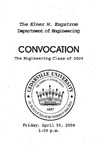 The Department of Engineering Class of 2004 Convocation