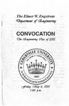 The Department of Engineering Class of 2005 Convocation