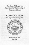 The Department of Engineering and Computer Science Class of 2006 Convocation by Cedarville University