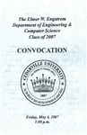 The Department of Engineering and Computer Science Class of 2007 Convocation
