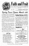 Faith and Fruit, March 1947 by Baptist Bible Institute of Cleveland